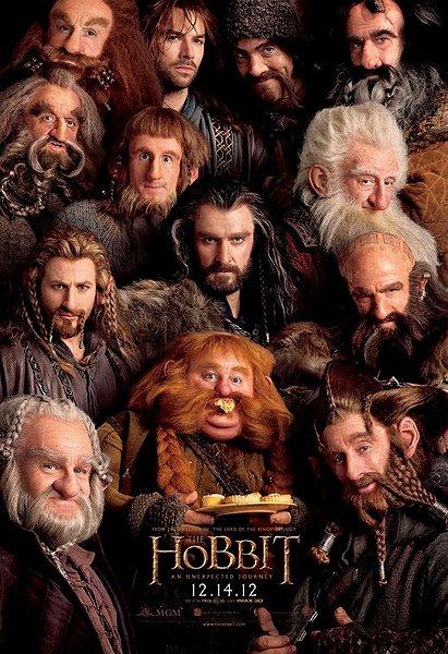 The Hobbit movie poster dwarves