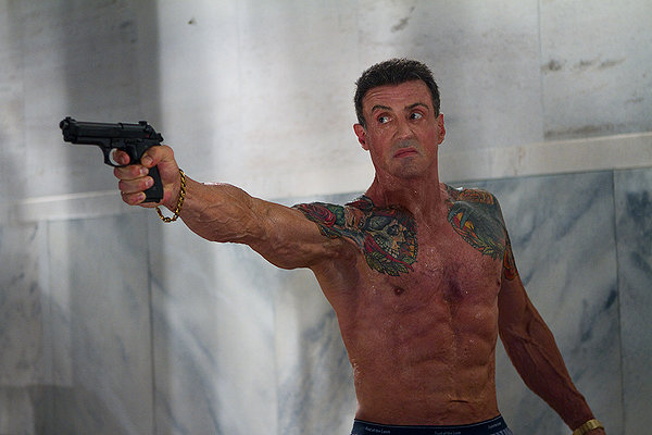 Bullet to the head Stallone muscles
