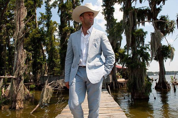 Parker Jason Statham cowboy hat