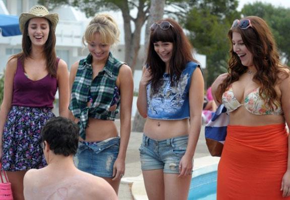 The Inbetweeners four girls