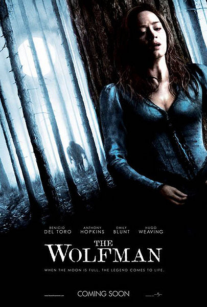 The Wolfman movie poster emily blunt