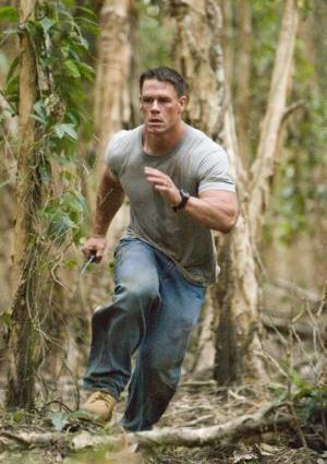Cena running through the woods
