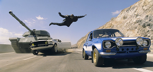 Fast and the Furious 6 car jumping