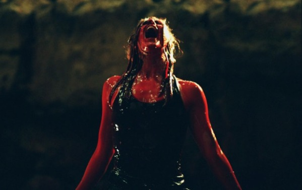 The Descent woman in blood