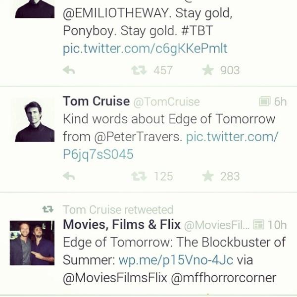 Tom Cruise retweet