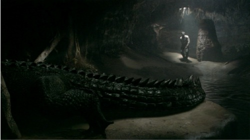 Rogue crocodile scene