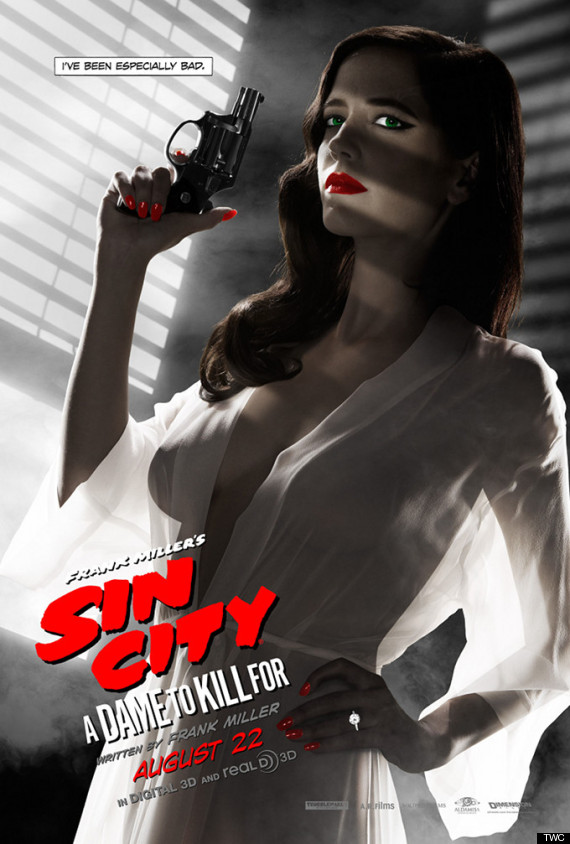 eva green sin city 2 movie poster