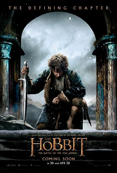 The Hobbit five armies movie poster