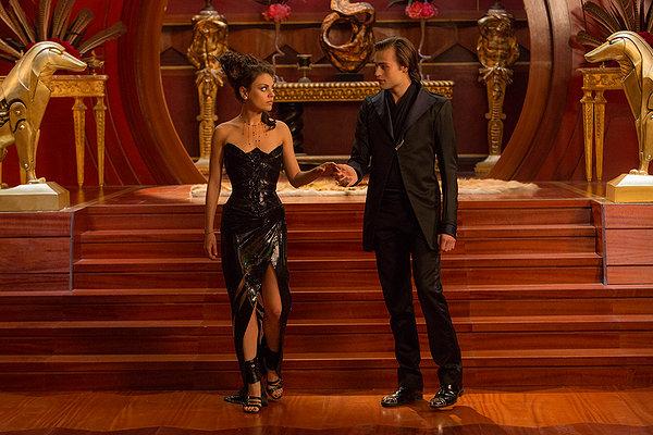 Mila Kunis leather dress