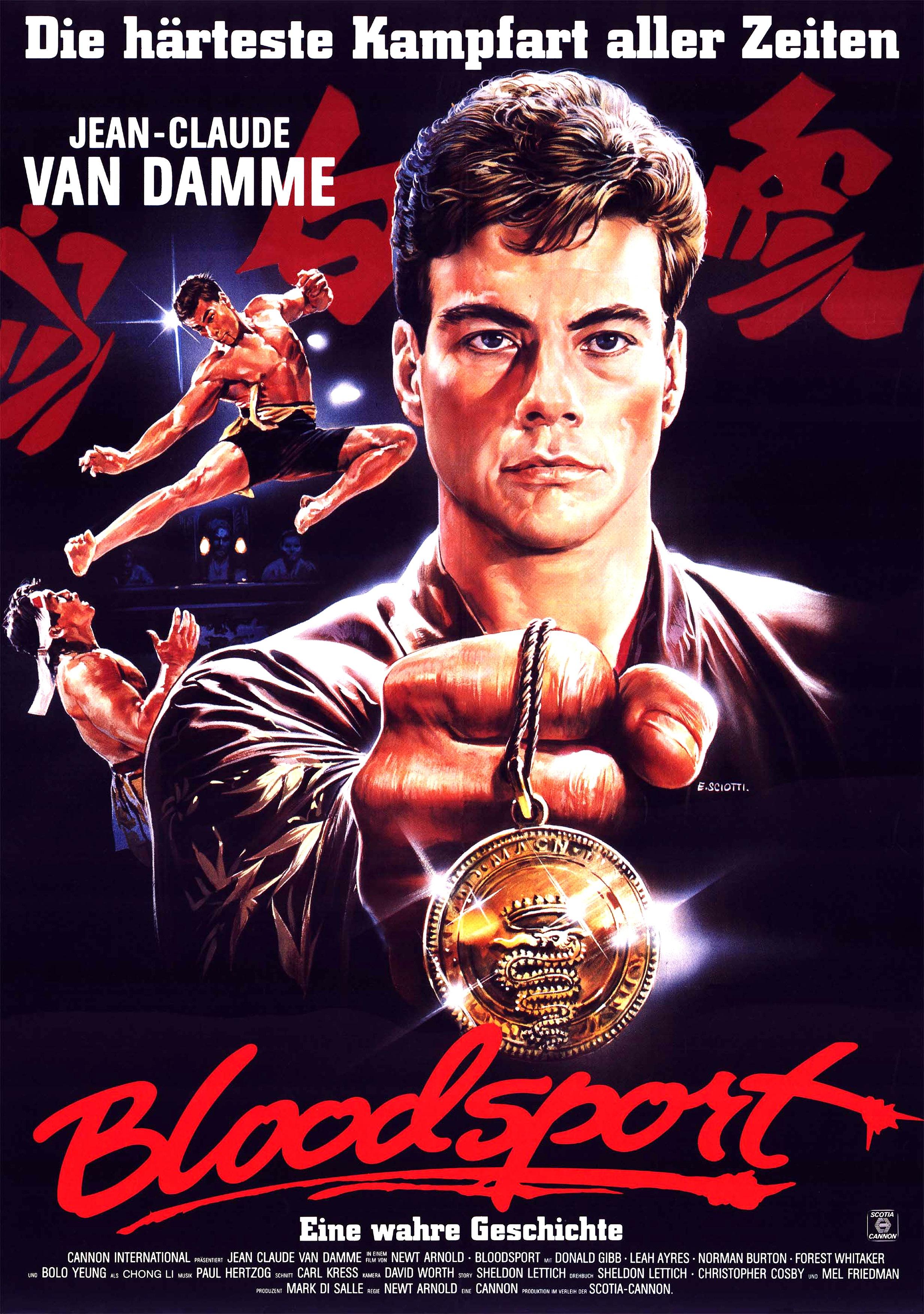Van Damme Funny Interview Bloodsport Poster