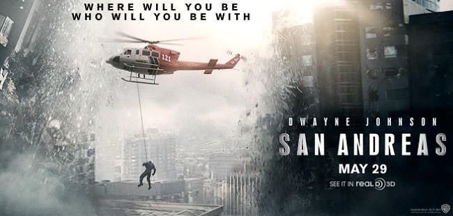 Movie Posters 2015: San Andreas: It's The End Of The World And The Rock Feels