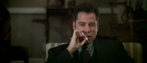 travolta smoking