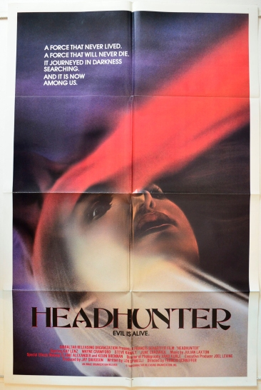 Headhunter : Original Cinema One Sheet Poster
