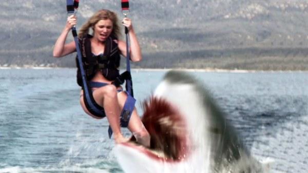 Shark Lake skier