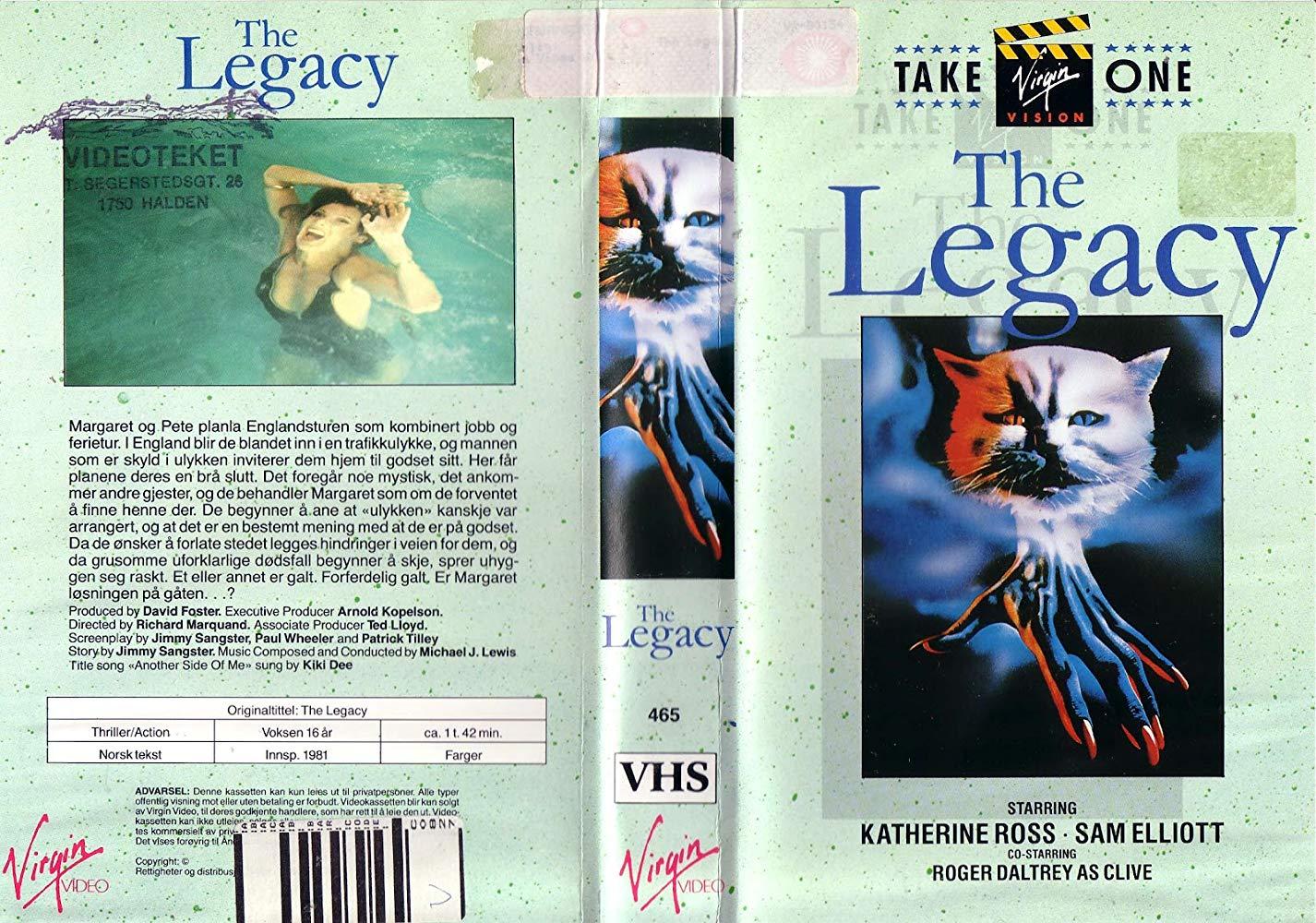 John S Horror Corner The Legacy 1978 Where Black Magic Greedy