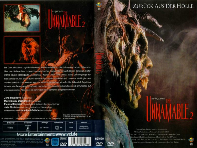 John's Horror Corner: The Unnamable 2: The Statement of