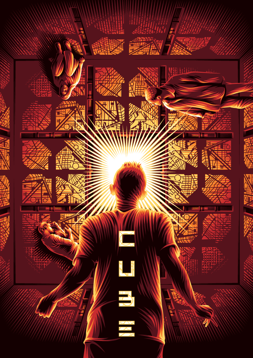 John's Horror Corner: Cube (1997), a deadly maze of traps with a ...